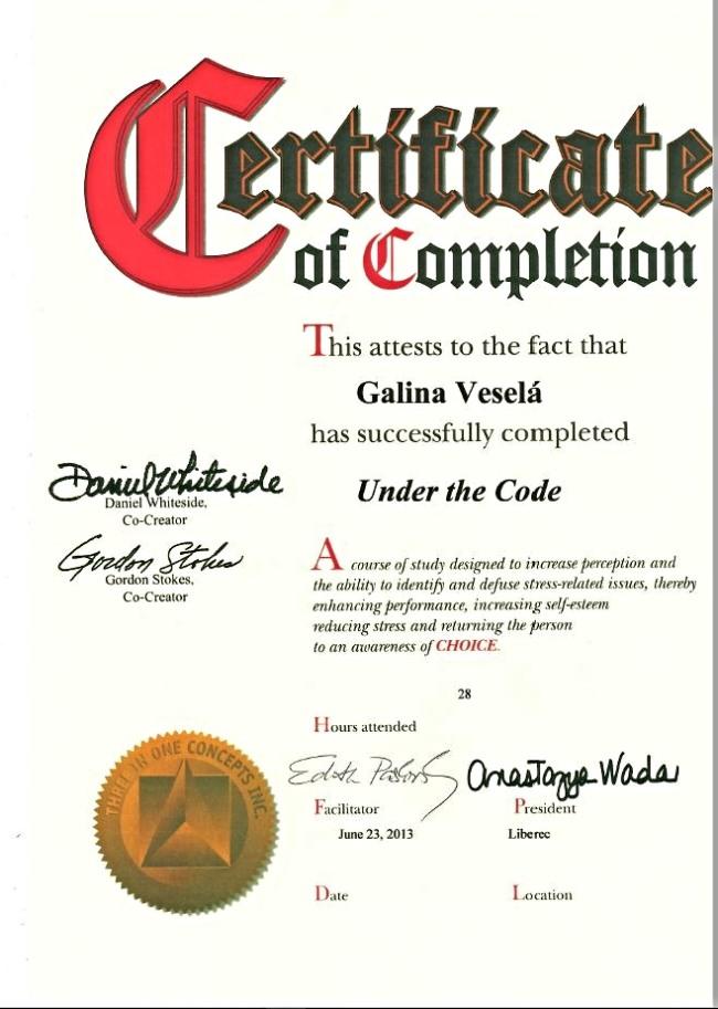 -Certifikát D 1