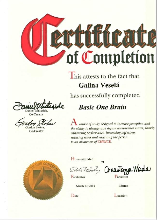 -Certifikát D 2